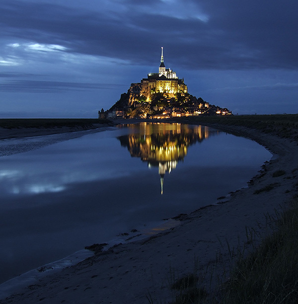 Mont Saint-Michel  •  photo de nuit  •  Manche