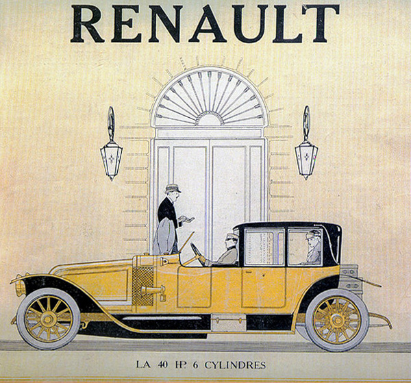 Renault 40 HP 6 cylindres • Couverture du magazine Omnia • 9 mai 1914